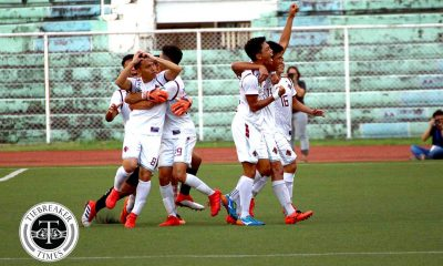 Philippine Sports News - Tiebreaker Times Joshua Laud's late goal not enough, as Fighting Maroons earn top seed ADMU Football News UAAP UP  UP Men's Football UAAP Season 80 Men's Football UAAP Season 80 Ryan Haosen Joshua Laud Jaypee Merida Jae Arcilla Ian Clarino Harel Dayan Fidel Tacardon Ateneo Men's Football Anto Gonzales