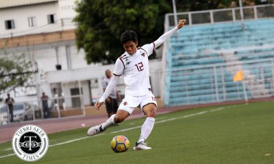 Philippine Sports News - Tiebreaker Times Fighting Maroons cruise past Red Warriors, reclaim top spot Football News UAAP UE UP  UP Men's Football UE Men's Football UAAP Season 80 Men's Football UAAP Season 80 Kintaro Miyagi JB Borlongan Ian Clarino Frank Rieza Fitch Arboleda Anton Yared Anto Gonzales