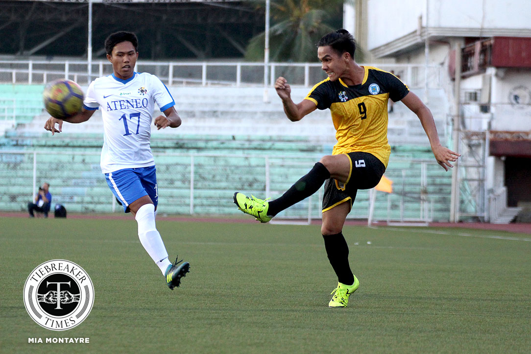 Tiebreaker Times Steven Anotado, AJ Pasion link up as UST deals Ateneo second defeat ADMU Football News UAAP UST  Zaldy Abraham UST Men's Football UAAP Season 80 Men's Football UAAP Season 80 Steven Anotado Marjo Allado John Paul Merida Ateneo Men's Football AJ Arcilla