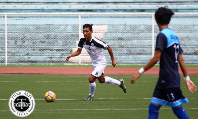 Philippine Sports News - Tiebreaker Times Ian De Castro sends Golden Booters to third straight semis appearance Football News UAAP UE UST  Zaldy Abraham Jr UST Men's Football UE Men's Football UAAP Season 80 Men's Football UAAP Season 80 Regil Galaura Marjo Allado Ian De Castro Frank Rieza Fitch Arboleda