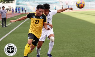 Tiebreaker Times Last-minute Dexter Benecio goal saves UST as NU throws away 2-goal edge Football News NU UAAP UST  Zaldy Abraham UST Men's Football UAAP Season 81 Men's Football UAAP Season 81 NU Men's Football Marjo Allado Mari Aberasturi Marcel Ouano Dexter Benecio Conrado Dimacali III Christian Betanio