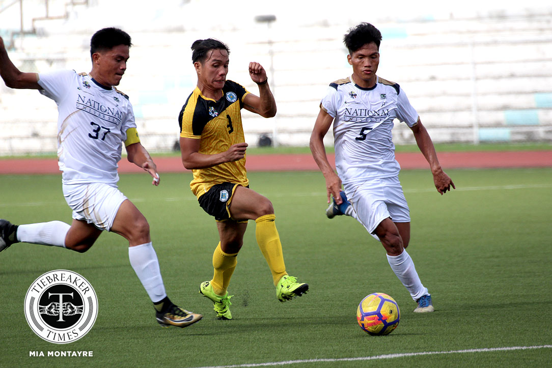 Tiebreaker Times Golden Booters warm up for Final Four with routine Bulldogs win Football News NU UAAP UST  Zaldy Abraham UST Men's Football UAAP Season 80 Men's Football UAAP Season 80 Steven Anotado NU Men's Football Marvin Bricenio Mari Aberasturi Chris Perocho Carlos Santiago