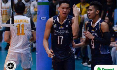 Tiebreaker Times Bulldogs grab fifth straight win, quell Fighting Maroons News NU UAAP UP Volleyball  Wendel Miguel UP Men's Volleyball UAAP Season 80 Men's Volleyball UAAP Season 80 Ricky Marcos NU Men's Volleyball Mark Millete Kim Dayandante James Natividad Hans Chuacuco Dante Alinsunurin Bryan Bagunas