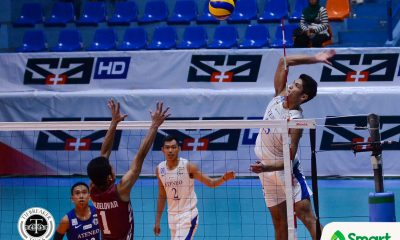 Philippine Sports News - Tiebreaker Times Blue Eagles douse Fighting Maroons for ninth win ADMU News UAAP UP Volleyball  UP Men's Volleyball UAAP Season 80 Men's Volleyball UAAP Season 80 Ron Medalla Oliver Almadro Mark Millete Marck Espejo Manuel Sumanguid Ish Polvorosa Hans Chuacuco Ateneo Men's Volleyball