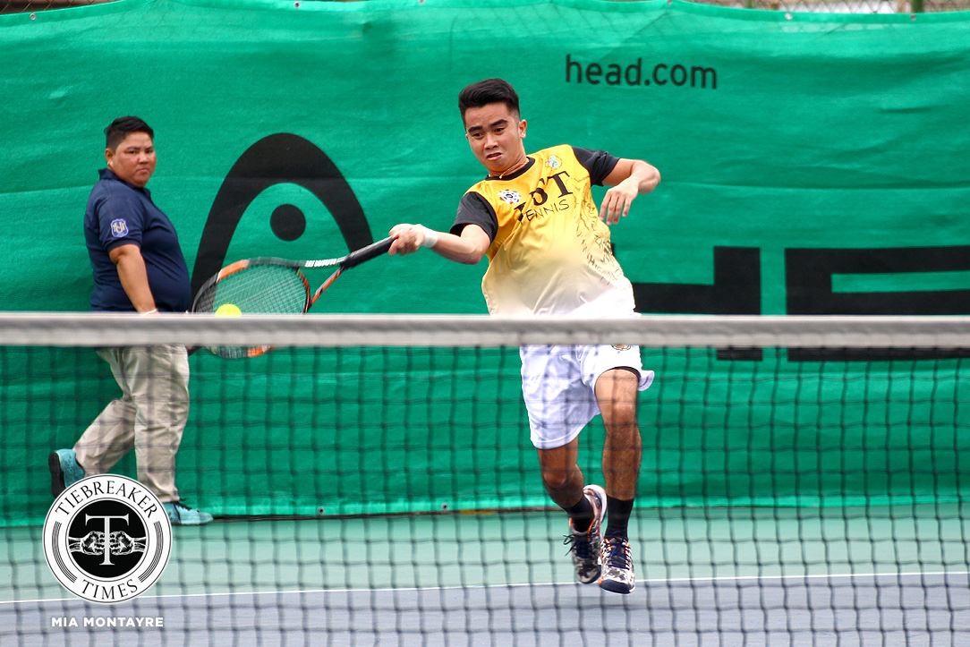 Tiebreaker Times Tiger Tennisters fend off Fighting Maroons for opening day win News Tennis UAAP UP UST  Warren Lagahit UST Men's Tennis UP Men's Tennis UAAP Season 80 Men's Tennis UAAP Season 80 Mikko Ringia Joshua Cano Dave Mosqueda Clarence Cabahug Christian Cabahug Bernlou Bering
