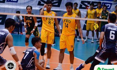 Tiebreaker Times Tamaraws stifle Soaring Falcons for solo lead AdU FEU News UAAP Volleyball  UAAP Season 80 Men's Volleyball UAAP Season 80 Rikko Marmeto Rey Diaz Pao Pablico Owen Suarez Leo Miranda Jude Garcia JP Bugaoan FEU Men's Volleyball Domeng custodio Adamson Men's Volleyball