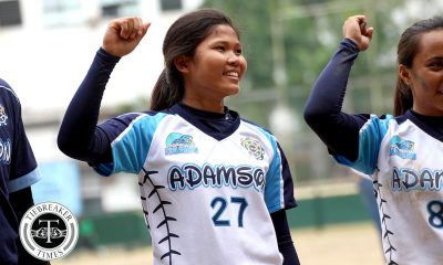 Tiebreaker Times Lyca Basa throws no-hitter in Adamson's bounce back win; UST maintains grip on second ADMU AdU DLSU News NU Softball UAAP UP UST  UP Softball UAAP Season 80 Softball UAAP Season 80 Sandy Barredo Ron Pagkaliwagan Mia Macapagal Lyca Basa Lalaine Cunanan Kevyn Lacson Joy Lasquite Joseph Orillana Jenette Rusia Jamica Arribas DLSU Softball Cochise Diolata Bianca Hernandez Ateneo Softball Ann Antolihao Ana Santiago