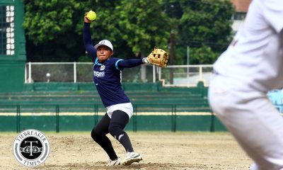 Tiebreaker Times Lyca Basa shines as Adamson overwhelms UST in Finals rematch AdU News Softball UAAP UST  UST Softball UAAP Season 80 Softball UAAP Season 80 Sandy Barredo Riezel Calumbres Mary Rose Obra Lyca Basa Celestine Palma Ana Santiago Adamson Softball