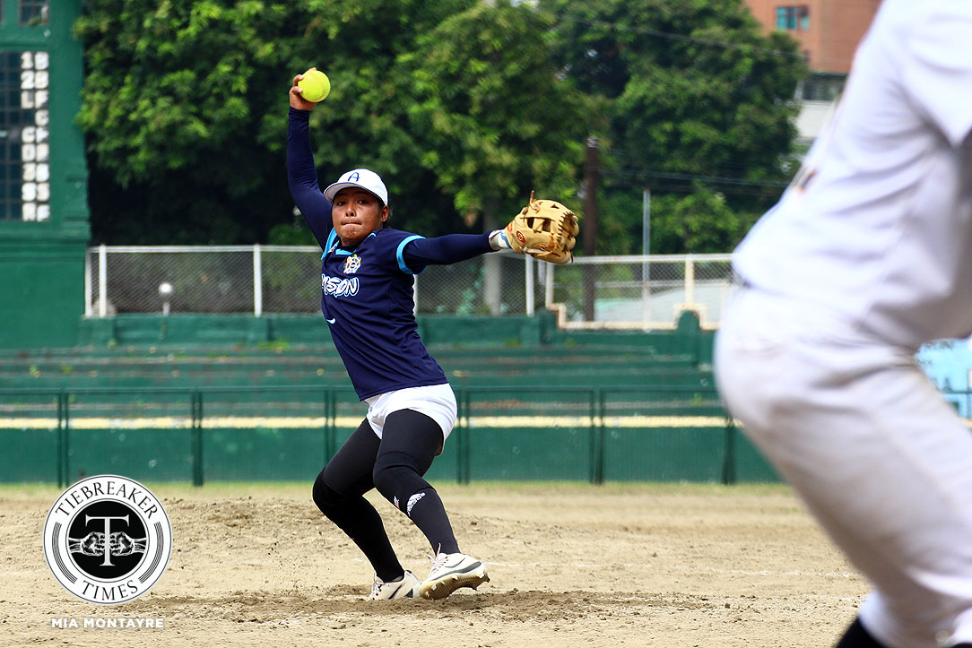 Philippine Sports News - Tiebreaker Times Lyca Basa shines as Adamson overwhelms UST in Finals rematch AdU News Softball UAAP UST  UST Softball UAAP Season 80 Softball UAAP Season 80 Sandy Barredo Riezel Calumbres Mary Rose Obra Lyca Basa Celestine Palma Ana Santiago Adamson Softball