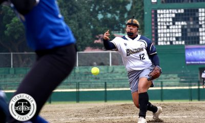 Tiebreaker Times Mia Macapagal takes charge as NU pounds Ateneo for second straight win ADMU News NU Softball UAAP  UAAP Season 80 Softball UAAP Season 80 NU Softball Mia Macapagal Mary Joy Lumhod Kaira Ventosa Joy Lasquite Egay delos Reyes Ateneo Softball