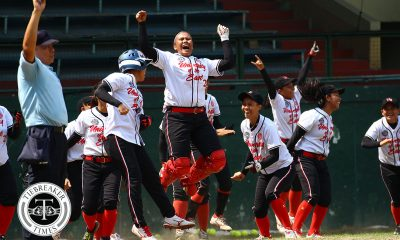 Tiebreaker Times Princess Huesca's walk-off caps UE comeback against NU News NU Softball UAAP UE  UE Softball UAAP Season 80 Softball UAAP Season 80 Shaira Damasing Princess Huescas NU Softball Michelle Mercado Mia Macapagal Lovely Redaja Egay delos Reyes Edzel Bacarisas