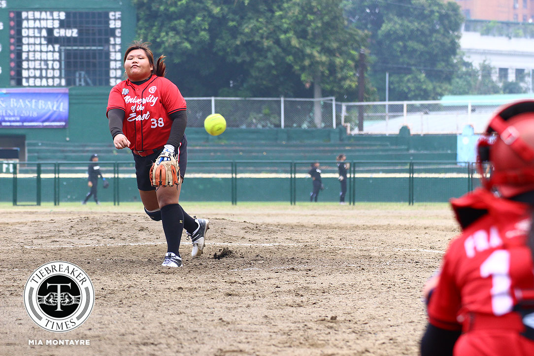 Philippine Sports News - Tiebreaker Times Michelle Mercado's HR caps UE's dominant win over UP News Softball UAAP UE UP  UP Softball UE Softball UAAP Season 80 Softball UAAP Season 80 Ron Pagkaliwagan Michelle Salvador Lovely Redaja Katherine Soliven Edzel Bacarisas Cochise Diolata