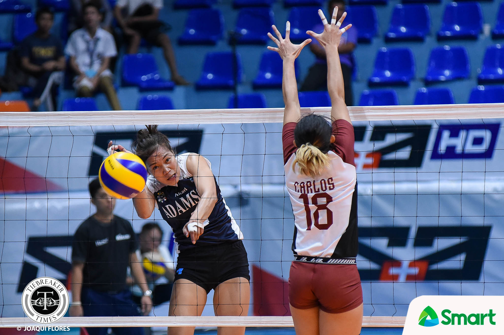 Philippine Sports News - Tiebreaker Times Lady Falcons make quick work of spiraling Lady Maroons AdU News UAAP UP Volleyball  UST Women's Volleyball UAAP Season 80 Women's Volleyball UAAP Season 80 Tots Carlos Thang Ponce Mylene Paat Jema Galanza Godfrey Okumu Fhen Emnas Air Padda Adamson Women's Volleyball