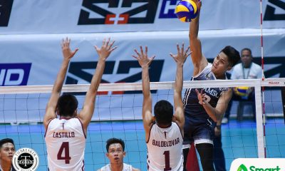 Tiebreaker Times Pao Pablico scorches UP, leads Adamson to first win AdU News UAAP UP Volleyball  Wendel Miguel UP Men's Volleyball UAAP Season 80 Men's Volleyball UAAP Season 80 Rence Melgar Pao Pablico Mark Millete Leo Miranda Hans Chuacuco Domingo Custodio Carlo Jimenez Adamson Men's Volleyball