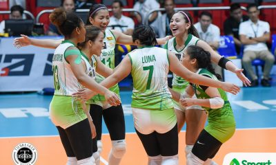 Tiebreaker Times La Salle vents ire on UE for rebound win DLSU News UAAP UE Volleyball  UE Women's Volleyball UAAP Season 80 Women's Volleyball UAAP Season 80 Shaya Adorador Ramil De Jesus Michelle Cobb Mary Anne Mendrez Majoy Baron Francis Vicente DLSU Women's Volleyball Desiree Cheng Dawn Macandili Aduke Ogunsanya