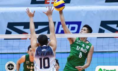 Tiebreaker Times Arjay Onia, Raymark Woo push La Salle past Adamson for second straight win AdU DLSU News UAAP Volleyball  Wayne Marco UAAP Season 80 Men's Volleyball UAAP Season 80 Raymark Woo Pao Pablico Norman Miguel JP Yude Jopet Movido Domeng custodio DLSU Men's Volleyball Arjay Onia Adamson Men's Volleyball