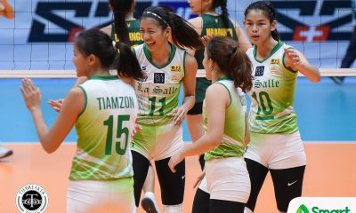 Tiebreaker Times La Salle remains unblemished, sends FEU to two-game slide DLSU FEU News UAAP Volleyball  UAAP Season 80 Women's Volleyball UAAP Season 80 Toni Basas Ramil De Jesus Michelle Cobb Majoy Baron Kianna Dy George Pascua FEU Women's Volleyball DLSU Women's Volleyball Dawn Macandili Bernadeth Pons