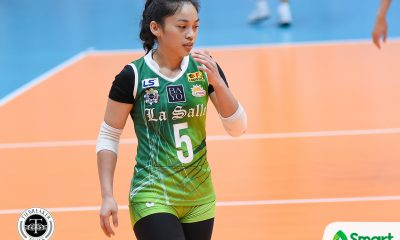 Tiebreaker Times Dawn Macandili learning patience while remaining a shut-down libero DLSU News UAAP Volleyball  UAAP Season 80 Women's Volleyball UAAP Season 80 DLSU Women's Volleyball Dawn Macandili