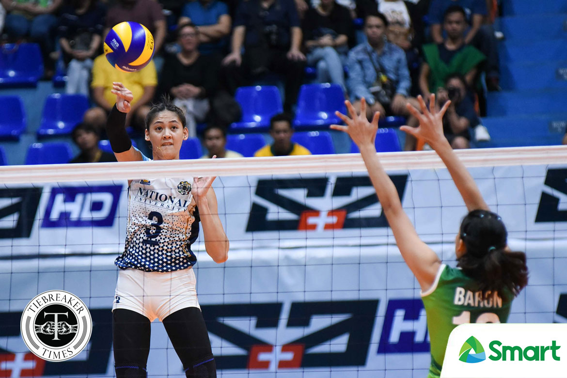 Philippine Sports News - Tiebreaker Times Jaja Santiago does not want La Salle win to be NU's only Season 80 highlight News NU UAAP Volleyball  UAAP Season 80 Women's Volleyball UAAP Season 80 NU Women's Volleyball Jaja Santiago
