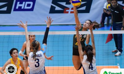 Tiebreaker Times Lady Tamaraws hand Lady Bulldogs first loss FEU News NU UAAP Volleyball  UAAP Season 80 Women's Volleyball UAAP Season 80 Toni Basas Philippine Sports News NU Women's Volleyball George Pascua Kyle Negrito Kyla Atienza Jasmine Nabor Jaja Santiago FEU Women's Volleyball Bernadeth Pons Babes Castillo