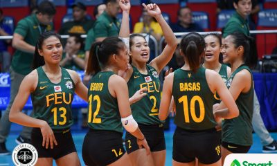 Tiebreaker Times FEU earns third win, keeps UE winless FEU News UAAP UE Volleyball  UE Women's Volleyball UAAP Season 80 Women's Volleyball UAAP Season 80 Toni Basas Rod Roque Mean Mendrez Kyle Negrito Kyla Atienza Kath Arado George Pascua FEU Women's Volleyball Celine Domingo Bernadeth Pons