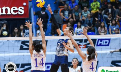 Tiebreaker Times SMART Sports Player of the Week Jaja Santiago going all out for NU News NU UAAP Volleyball  UAAP Season 80 Women's Volleyball UAAP Season 80 UAAP Player of the Week NU Women's Volleyball Jaja Santiago Babes Castillo