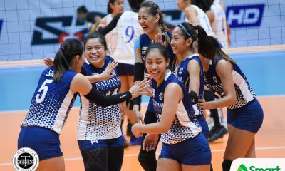 Philippine Sports News - Tiebreaker Times National U rebounds from first loss, upends State U News NU UAAP UP Volleyball  UP Women's Volleyball UAAP Season 80 Women's Volleyball UAAP Season 80 Tots Carlos Risa Sato NU Women's Volleyball Jasmine Nabor Jaja Santiago Isa Molde Godfrey Okumu Gayle Valdez Babes Castillo