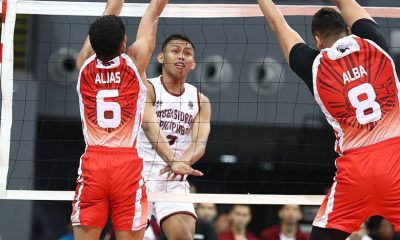 Tiebreaker Times UP pounds 10-man UE, spoils Sammy Acaylar's debut News UAAP UE UP Volleyball  Wendel Miguel UP Men's Volleyball UE Men's Volleyball UAAP Season 80 Men's Volleyball UAAP Season 80 Sammy Acaylar Noel Alba Miguel Nasol Jerry San Pedro Jerahmeel Baldelovar Hans Chuacuco Geric Ortega