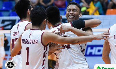 Tiebreaker Times Fighting Maroons end four-game skid, stun Tiger Spikers News UAAP UP UST Volleyball  UST Men's Volleyball UP Men's Volleyball UAAP Season 80 Men's Volleyball UAAP Season 80 Odjie Mamon Miguel Nasol Mark Millete Joshua Umandal Jerahmeel Baldelovar Jayvee Sumagaysay Hans Chuacuco Gian San Pascual