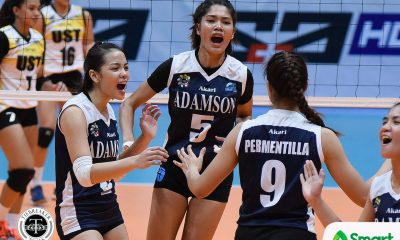 Philippine Sports News - Tiebreaker Times Joy Dacoron now doing her job AdU News UAAP Volleyball  UAAP Season 80 Women's Volleyball UAAP Season 80 Joy Dacoron Air Padda Adamson Women's Volleyball