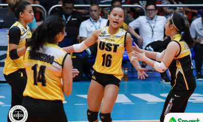 Tiebreaker Times Golden Tigresses hold players-only meeting after deflating loss to Lady Maroons News UAAP UST Volleyball  UST Women's Volleyball UAAP Season 80 Women's Volleyball UAAP Season 80 Philippine Sports News Cherry Rondina