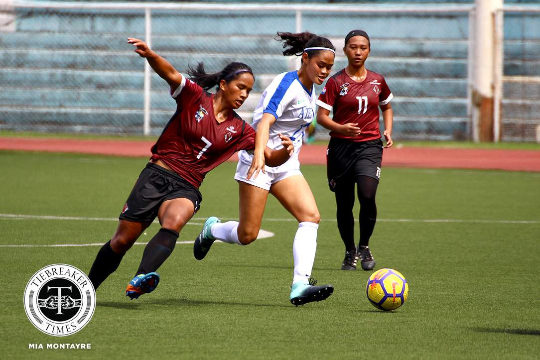 Tiebreaker Times Martie Bautista flies high in an experience of a lifetime ADMU Football News UAAP  UAAP Season 80 WOmen's Football UAAP Season 80 Martie Bautista Ateneo Women's Football
