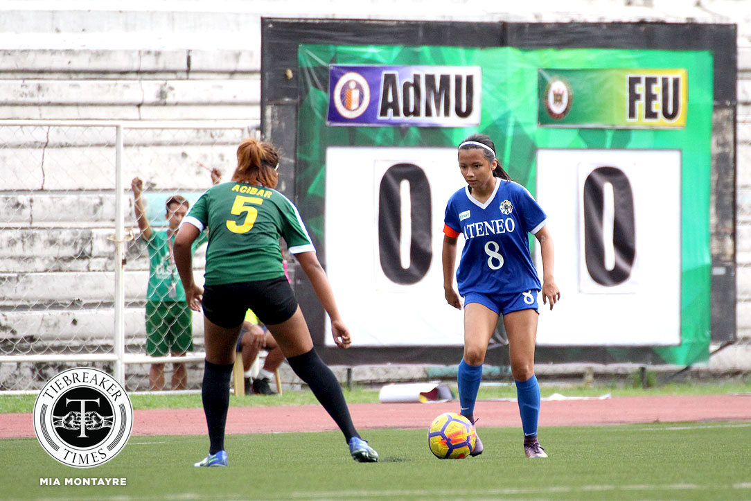 Philippine Sports News - Tiebreaker Times Ateneo drags unbeaten FEU to stalemate ADMU FEU Football News UAAP  UAAP Season 80 WOmen's Football UAAP Season 80 Mariane Caparros Let Dimzon Kimberly Parina John Paul Merida FEU Women's Football Ateneo Women's Football
