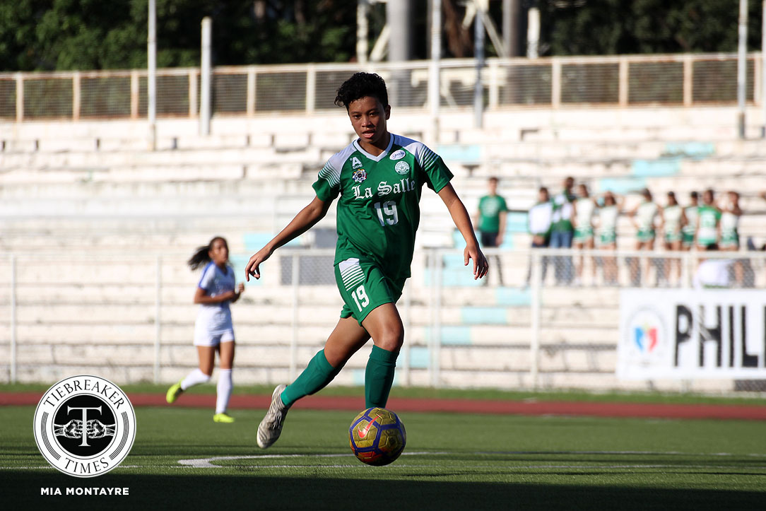 Tiebreaker Times 'Lousy' La Salle survives Ateneo scare to end first round on a high ADMU DLSU Football News UAAP  UAAP Season 80 WOmen's Football UAAP Season 80 Nina Arrieta Natasha Lacson Mariane Caparros John Paul Merida Hans-Peter Smit DLSU Women's Football Ateneo Women's Football