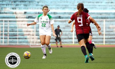 Tiebreaker Times Shannon Arthur nets brace as La Salle starts title defense with UP win DLSU Football News UAAP UP  Vanessa Estrada UP Women's Football UAAP Season 80 WOmen's Football UAAP Season 80 Steph Permanes Shannon Arthur Red Sajonia Natasha Lacson Kyla Inquig Hans-Peter Smit DLSU Women's Football
