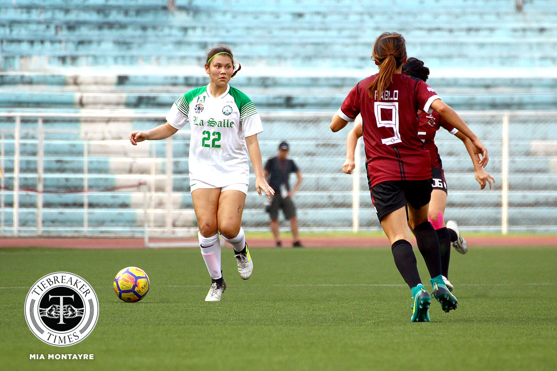Tiebreaker Times Shannon Arthur eager to make up for lost time in La Salle's title defense DLSU Football News UAAP  UAAP Season 80 WOmen's Football UAAP Season 80 Shannon Arthur DLSU Women's Football