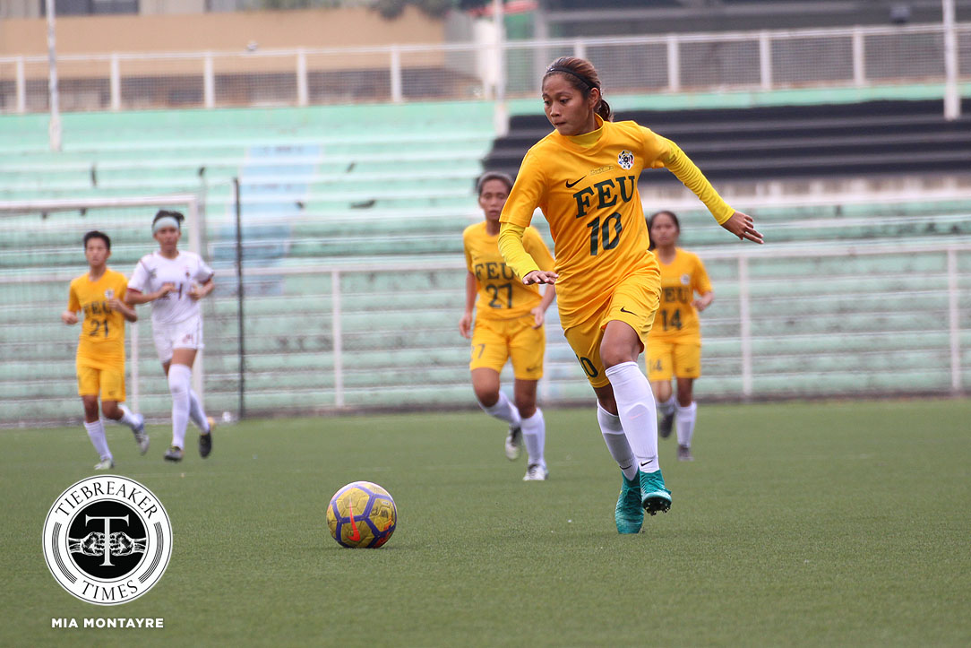 Tiebreaker Times Aloha Bejic scores brace, Let Dimzon ejected as FEU condemns UP to barren first round FEU Football News UAAP UP  Vanessa Estrada UP Women's Football UAAP Season 80 WOmen's Football UAAP Season 80 Steph Permanes Let Dimzon Kimberly Parina FEU Women's Football Cristina De los Reyes Aloha Bejic