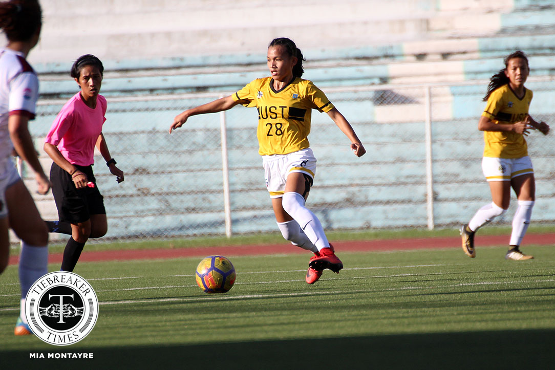 Tiebreaker Times UST outlasts UP in five-goal thriller, closes first round with third straight win Football News UAAP UP UST  Vanessa Estrada UST Women's Football UP Women's Football UAAP Season 80 WOmen's Football UAAP Season 80 Thea Sumilang Steph Permanes Shelah Cadag MJ Indac Hazel Lustan Bling Perez Alyssa Ube Aging Rubio