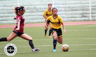 Tiebreaker Times Charise Lemoran shines as UST sends UP to brink of elimination Football News UAAP UP UST  Vanessa Estrada UST Women's Football UP Women's Football UAAP Season 80 WOmen's Football UAAP Season 80 Nicole Reyes Mae Cadag Franco Bambico Charise Lemoran Aging Rubio