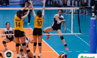 Tiebreaker Times Jema Galanza, Lady Falcons recover from opening-day loss, slip past Lady Tamaraws AdU FEU News UAAP Volleyball  UAAP Season 80 Women's Volleyball UAAP Season 80 Toni Basas Thang Ponce Mylene Paat Jema Galanza George Pascua Fhen Emnas FEU Women's Volleyball Bernadeth Pons Air Padda Adamson Women's Volleyball