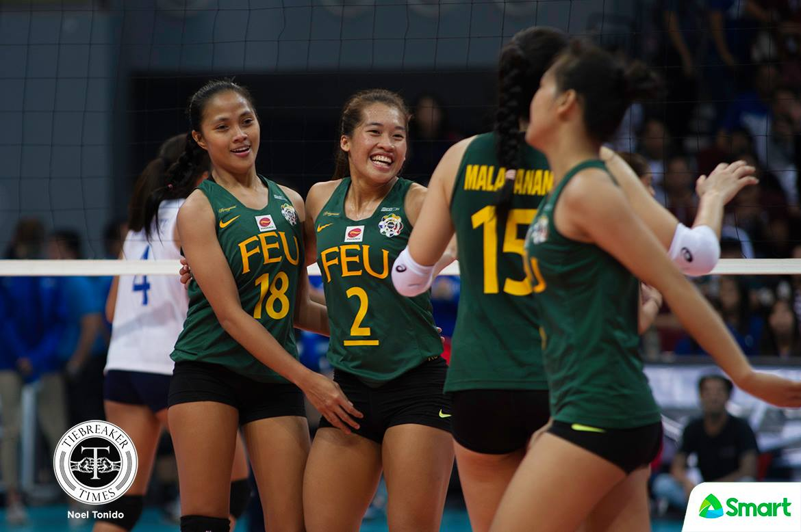 Tiebreaker Times Bernadeth Pons takes Air Padda's admiration as consolation FEU News UAAP Volleyball  UAAP Season 80 Women's Volleyball UAAP Season 80 FEU Women's Volleyball Bernadeth Pons Airess Padda