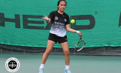 Philippine Sports News - Tiebreaker Times UST fends off La Salle upset axe, clinches fourth straight Finals berth DLSU News Tennis UAAP UST  UST Women's Tennis UAAP Season 80 Women's Tennis UAAP Season 80 Rachel de Guzman Precian Rivera Nikki Arandia Monica Cruz Kendies Malinis Jenni Dizon Ingrid Gonzales DLSU Women's Tennis