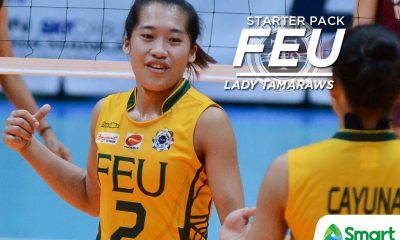 Tiebreaker Times UAAP Season 80 Starter Pack: FEU Lady Tamaraws Bandwagon Wire FEU UAAP Volleyball  UAAP Season 80 Women's Volleyball UAAP Season 80 Kyla Atienza Jerrili Malabanan George Pascua FEU Women's Volleyball Celine Domingo Bernadeth Pons