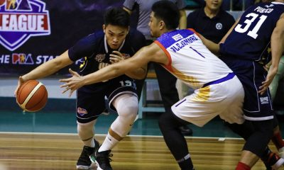 Tiebreaker Times Bong Quinto, Wangs-Letran hold on against Go for Gold, spoil Paul Desiderio's debut Basketball News PBA D-League  Yankie Haruna Rey Publico Paul Desiderio Justin Gutang Jeff Napa J-Jay Alejandro Charles Tiu Bong Quinto Bonbon Batiller 2018 PBA D-League Season 2018 PBA D-League Aspirants Cup