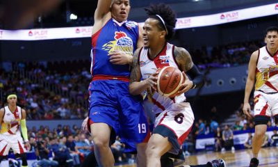 Tiebreaker Times Chris Ross does not mean any disrespect with ball fake to Hotshots bench Basketball News PBA  San Miguel Beermen PBA Season 43 Chris Ross 2017-18 PBA Philippine Cup