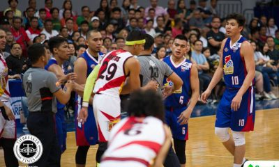 Tiebreaker Times Jio Jalalon on late-game spat with Arwind Santos: 'Nang-aasar lang ako' Basketball News PBA  PBA Season 43 Magnolia Hotshots Jio Jalalon 2017-18 PBA Philippine Cup