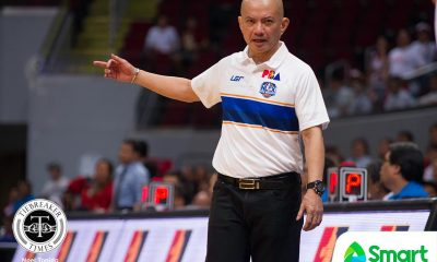 Tiebreaker Times Yeng Guiao on early ejection: 'Sometimes you think you need to send a message to the referees' Basketball News PBA  Yeng Guiao PBA Season 44 NLEX Road Warriors Jojo Lastimosa 2019 PBA Philippine Cup