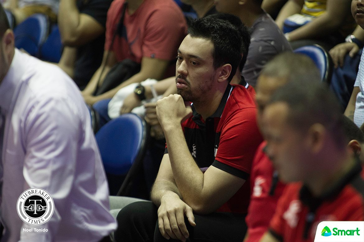 Philippine Sports News - Tiebreaker Times Greg Slaughter remains day-to-day for Ginebra Basketball News PBA  Tim Cone PBA Season 43 Greg Slaughter Barangay Ginebra San Miguel 2017-18 PBA Philippine Cup