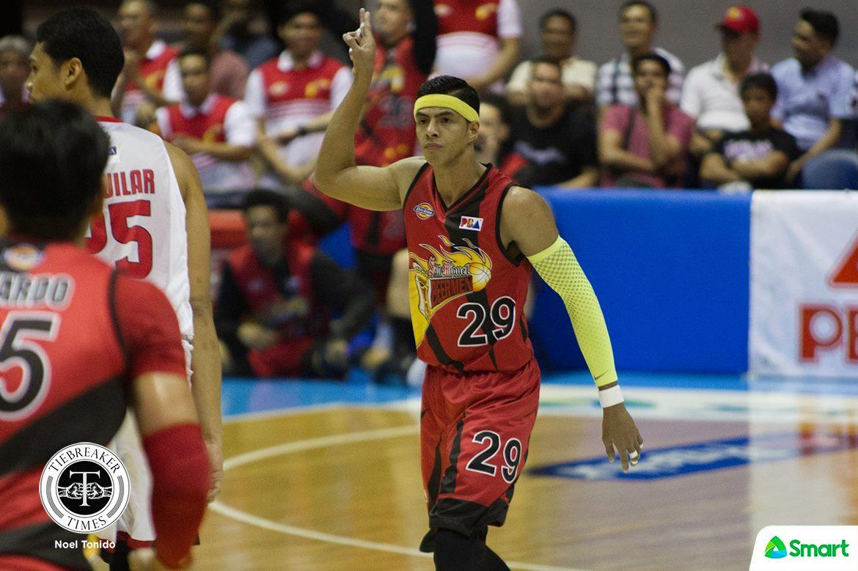 Tiebreaker Times Arwind Santos slapped with 25k fine Basketball News PBA  San Miguel Beermen PBA Transactions PBA Season 43 Arwind Santos 2017-17 pba philippine cup