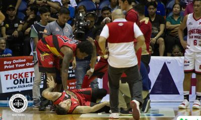 Tiebreaker Times David Semerad, Paolo Taha suffer injuries early in Game 1 Basketball News PBA  San Miguel Beermen PBA Season 43 Paolo Taha David Semerad Barangay Ginebra San Miguel 2017-18 PBA Season